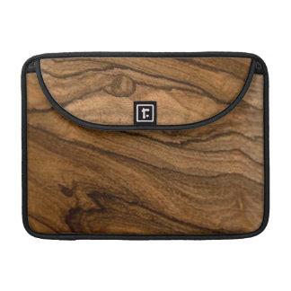 Wooden Print MacBook Sleeve, Exotic Ziricote Wood Sleeves For MacBooks
