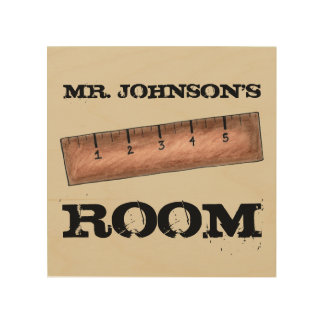 Wooden Ruler Personalized Teacher Classroom Gift Wood Print