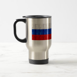 Wooden Russian Flag Coffee Mugs
