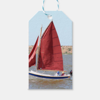 Wooden sail boat gift tags