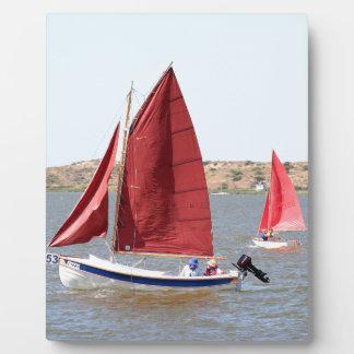 Wooden sail boat plaque