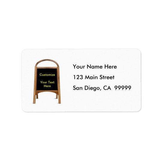 Wooden Sandwich Board Address Label
