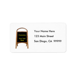 Wooden Sandwich Board Label