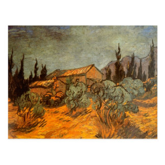 Wooden Sheds by Vincent van Gogh Postcard