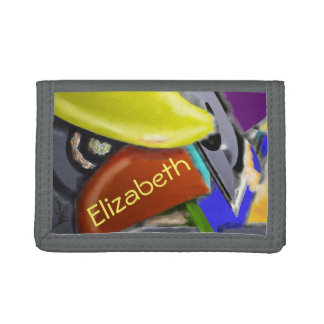 Wooden Shoes - Colorful Abstract Design Tri-fold Wallets