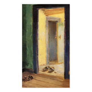 Wooden shoes Dutch art by impressionist Ancher Business Cards