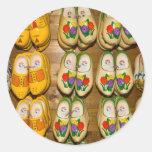 Wooden Shoes, Dutch Village Shop, Noordhuizen Round Sticker