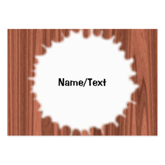 wooden structure pack of chubby business cards