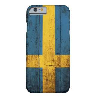 Wooden Sweden Flag Barely There iPhone 6 Case