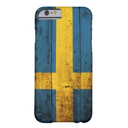 Wooden Sweden Flag iPhone 6 Case