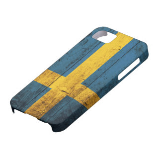 Wooden Sweden Flag iPhone 5 Cover