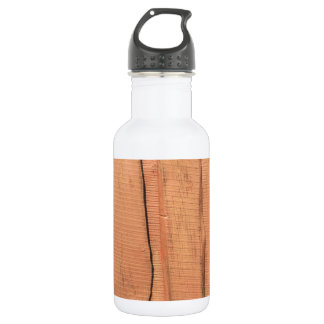 Wooden texture 532 ml water bottle