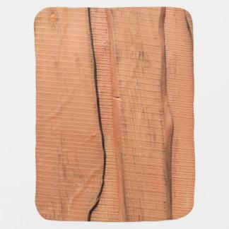 Wooden texture baby blanket