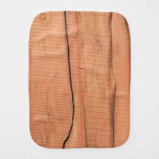 Wooden texture burp cloth