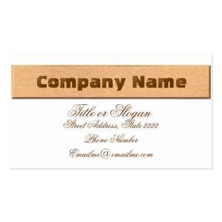 Wooden Texture Pack Of Standard Business Cards