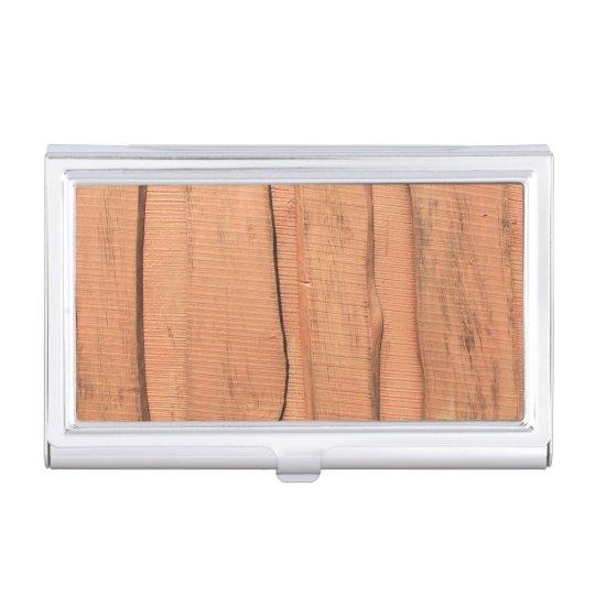 Wooden texture business card holder