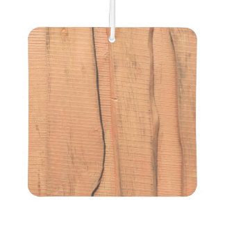 Wooden texture car air freshener