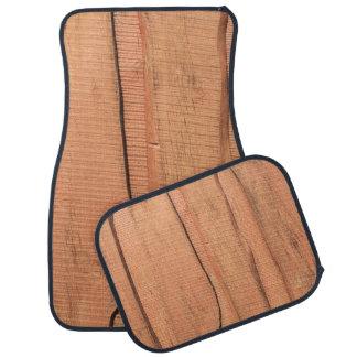 Wooden texture car mat