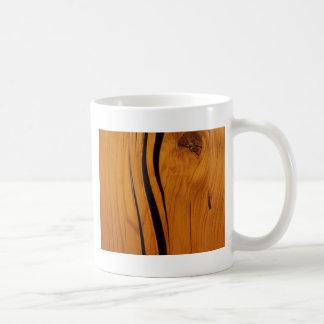 Wooden texture coffee mug