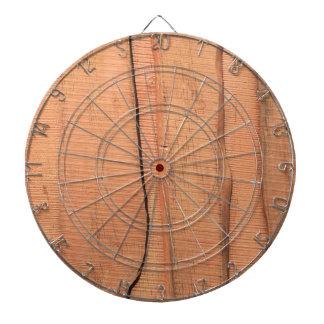 Wooden texture dartboard