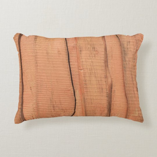 Wooden texture decorative cushion