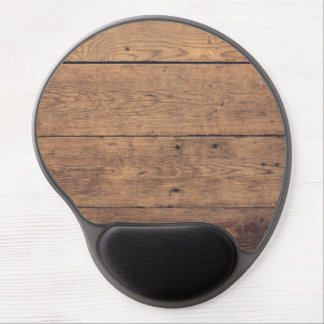 Wooden texture gel mouse pad