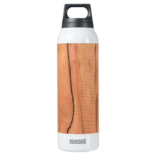 Wooden texture insulated water bottle