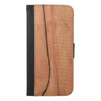 Wooden texture iPhone 6/6s plus wallet case