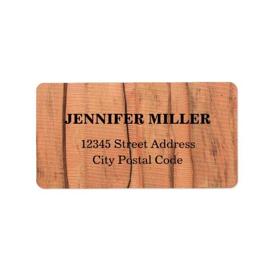 Wooden texture label