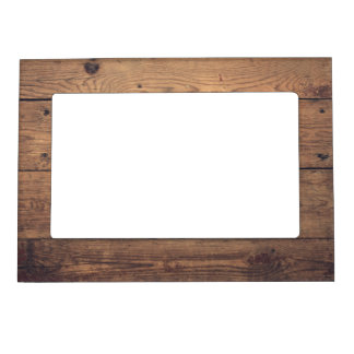 Wooden texture magnetic frame