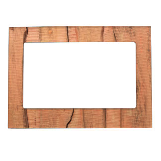 Wooden texture magnetic picture frame