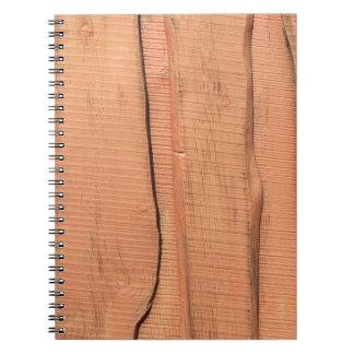 Wooden texture notebooks