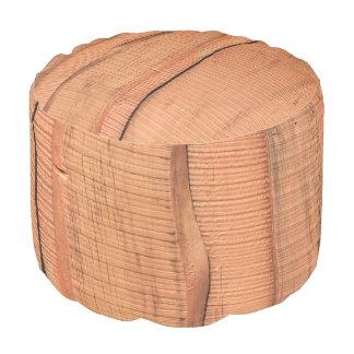 Wooden texture pouf