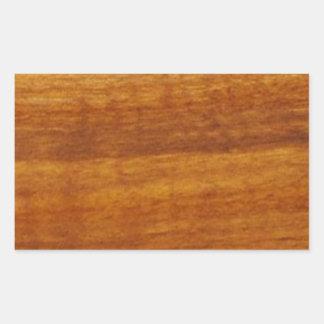 wooden texture rectangular sticker
