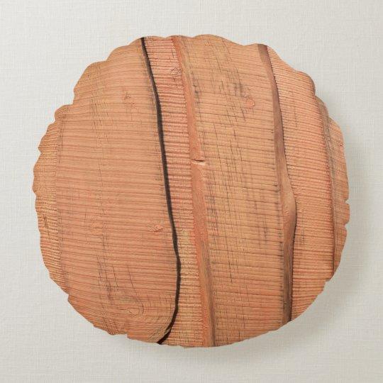 Wooden texture round cushion