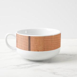 Wooden texture soup mug