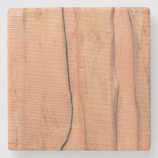 Wooden texture stone coaster