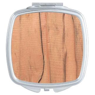 Wooden texture vanity mirrors