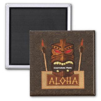 Wooden Tiki Mask Vintage Retro ALOHA Hawaiian Magnet