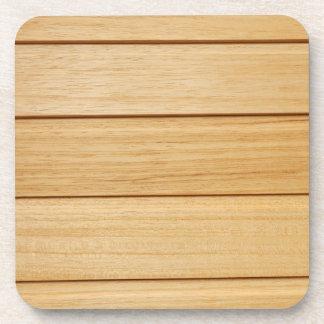 Wooden Tiles Hard Plastic Coasters