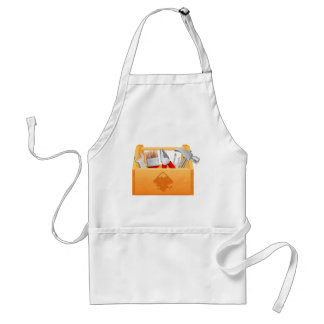 Wooden Toolbox with Tools Aprons
