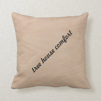 Wooden Toss Pillow with inscription