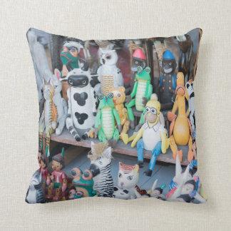 Wooden toy bazar cushion