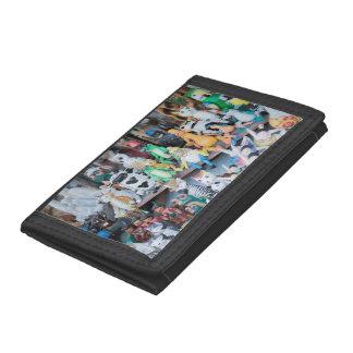 Wooden toy bazar trifold wallet