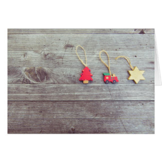 Wooden Trinkets Christmas Greeting Card