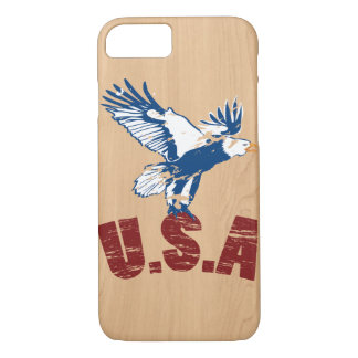 Wooden USA Eagle iphone Case