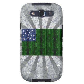 Wooden Vermont Flag Samsung Galaxy S3 Cases