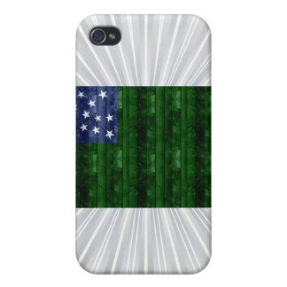 Wooden Vermont Flag iPhone 4 Case