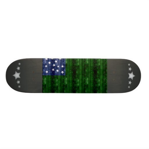 Wooden Vermont Flag Skate Boards