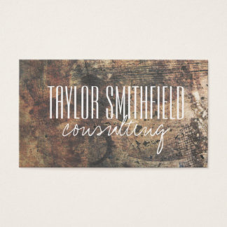 wooden vintage rust old trendy business card